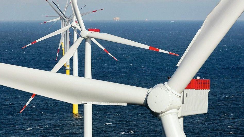 Nordsee-Windpark bei Borkum