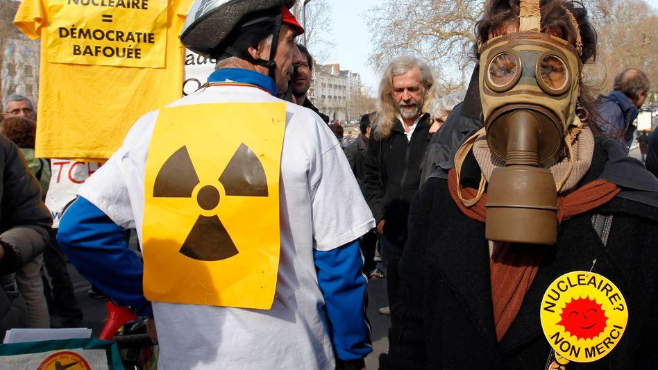 Atomkraftgegner im französischen Nantes: Das Land setzt weiter auf Kernenergie