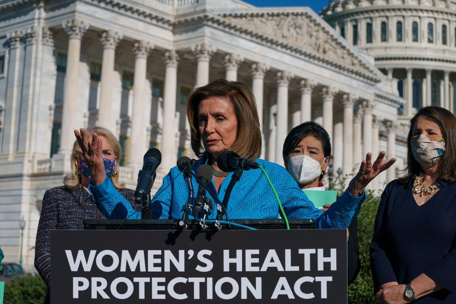 Nancy Pelosi, Sylvia Garcia, Judy Chu, Diana DeGette