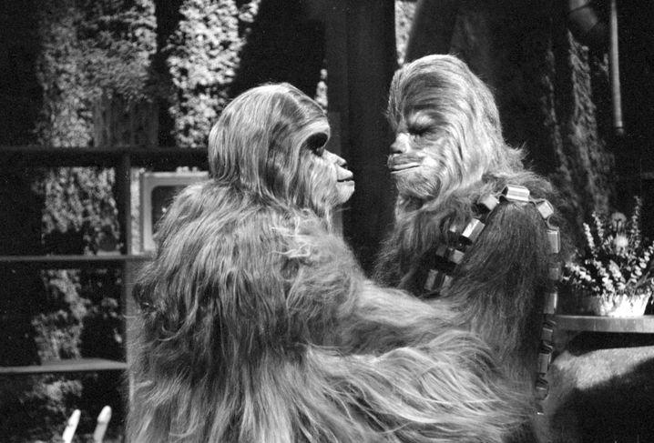 Ehepaar Chewbacca: Unterm Baum vereint