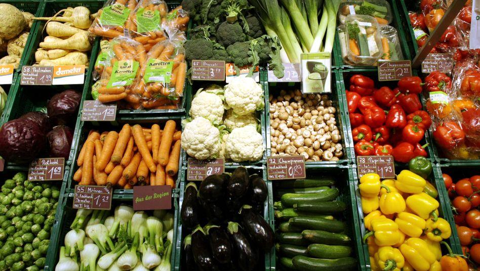Bio-Gemüse im Supermarkt: Essen, was einem gut tut - und vor allem Gemüse