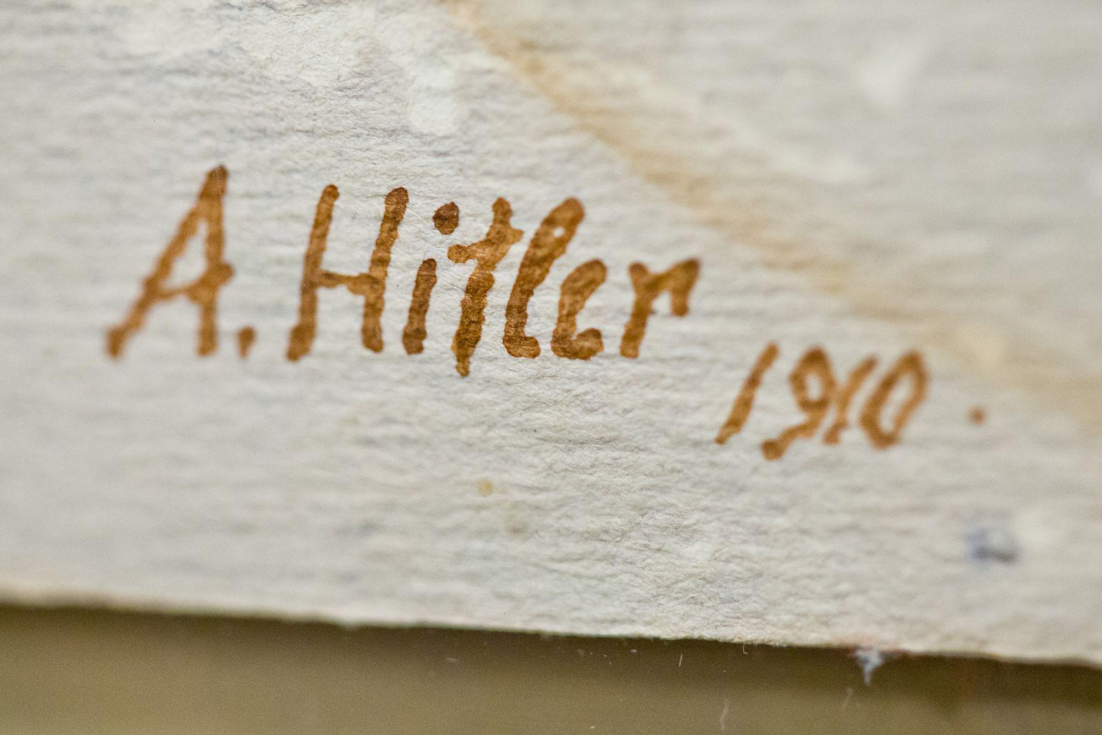 Auktionshaus versteigert Aquarell von Hitler