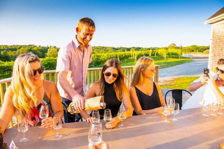 Weinprobe in der Avondale Sky Winery.