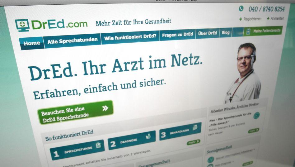 Online-Portal DrEd.com (Screenshot): Behandlung in der virtuellen Praxis
