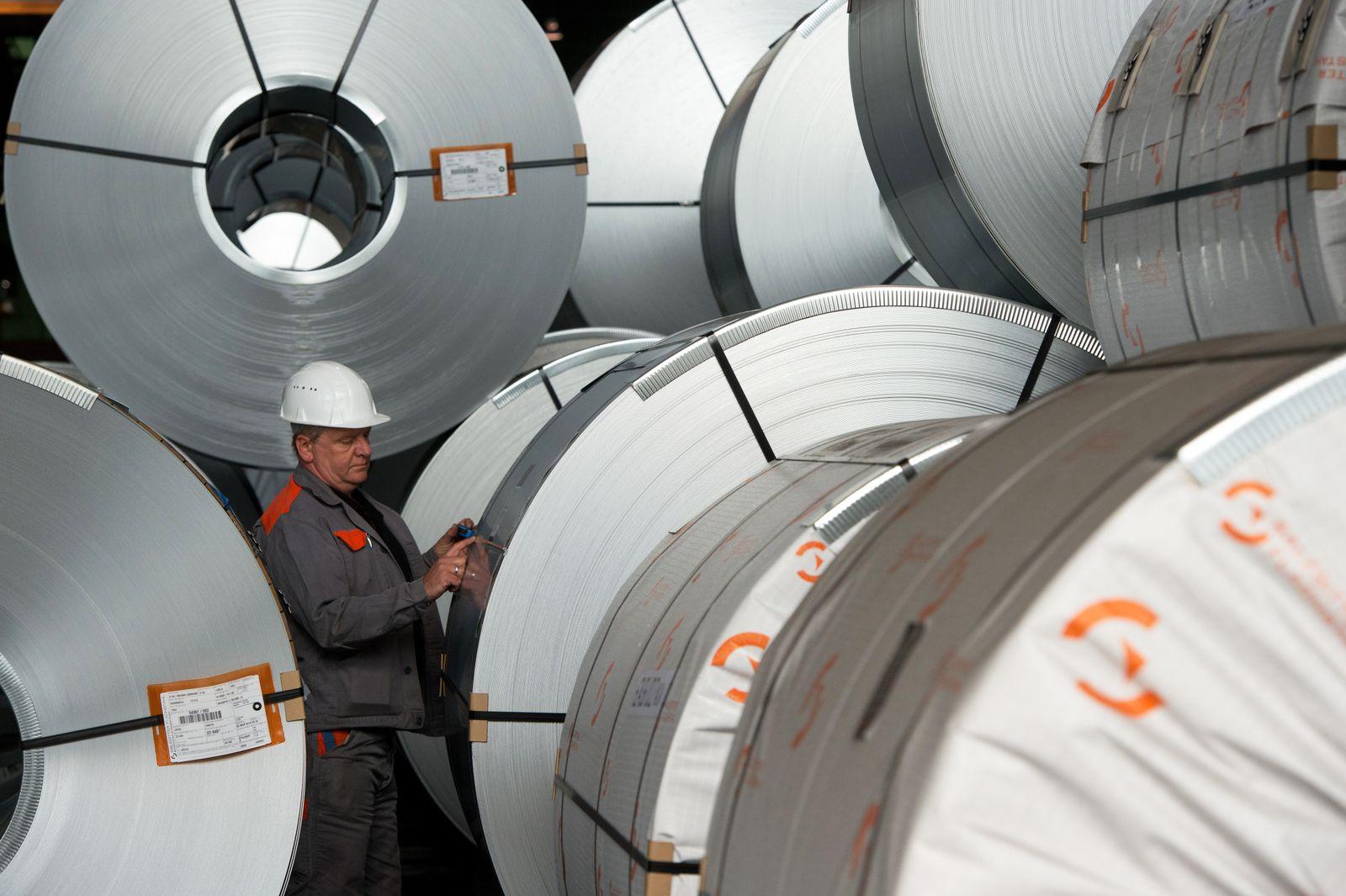 Deutschland / Konjunktur / Export / Stahl / Stahlwerk