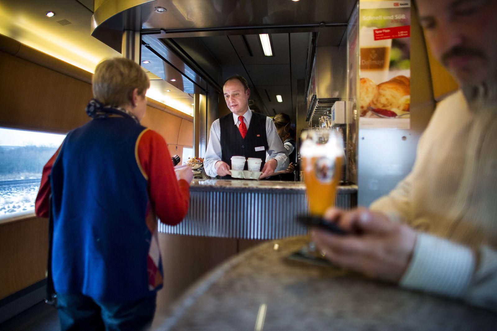 EINMALIGE VERWENDUNG Deutsche Bahn/ DB/ ICE/ Bordbistro/ Bordrestaurant
