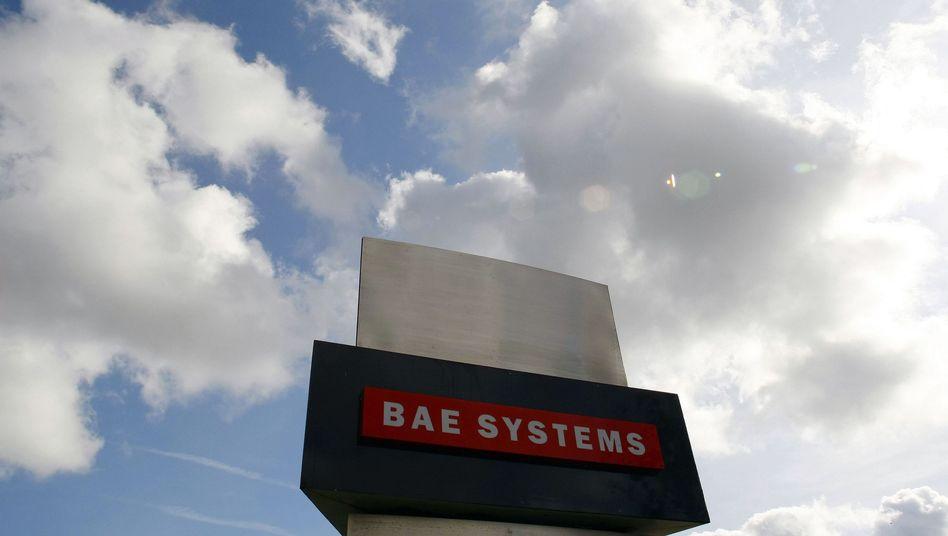 BAE-Zeichen im englischen Preston: Zusammenschluss mit EADS fraglich