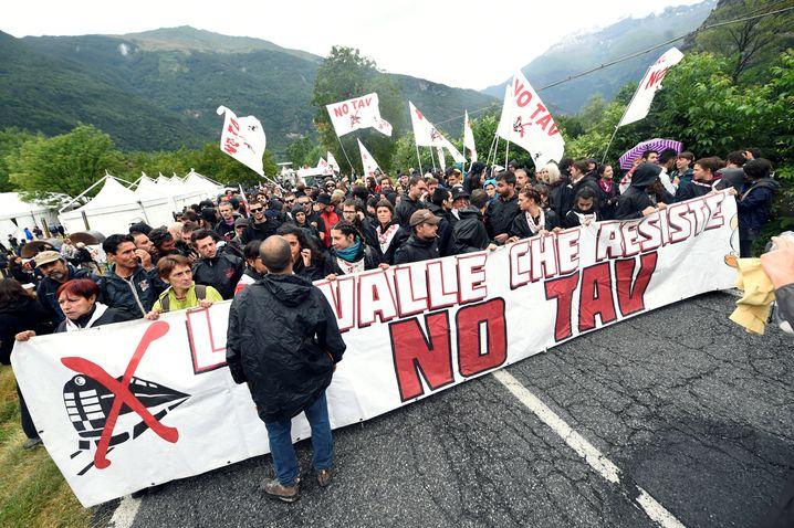 Proteste gegen Tav-Bahntrasse (am 27. Juli): Umstrittenes Projekt