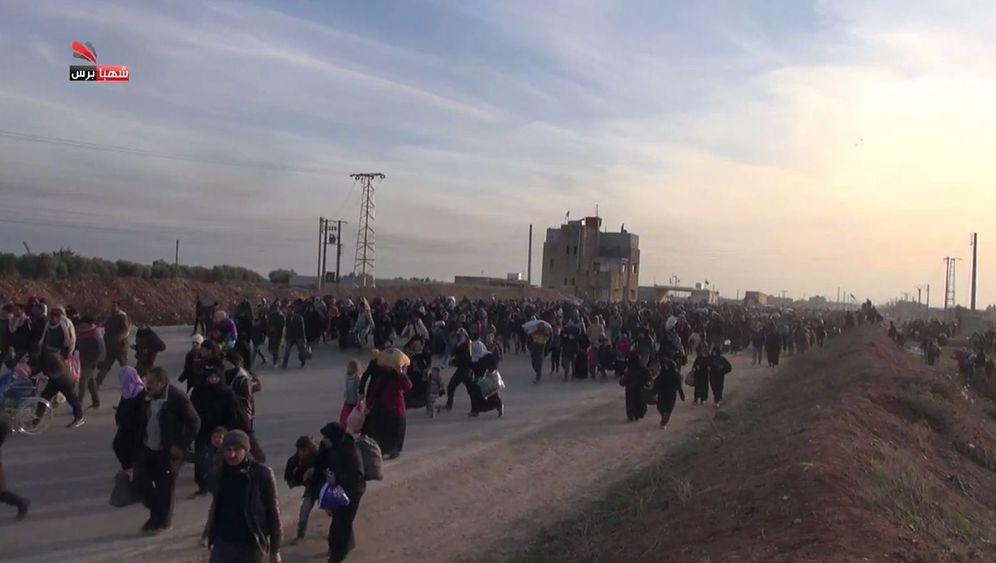 Kämpfe in Aleppo: Tausende Syrer auf der Flucht