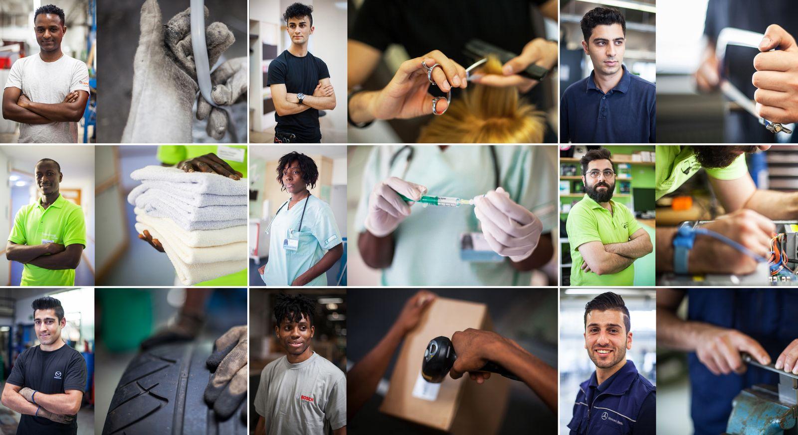 EINMALIGE VERWENDUNG Geflüchtete auf dem Arbeitsmarkt / Kombo