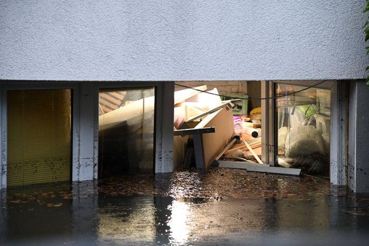Hochwasser in Köln-Müngersdorf