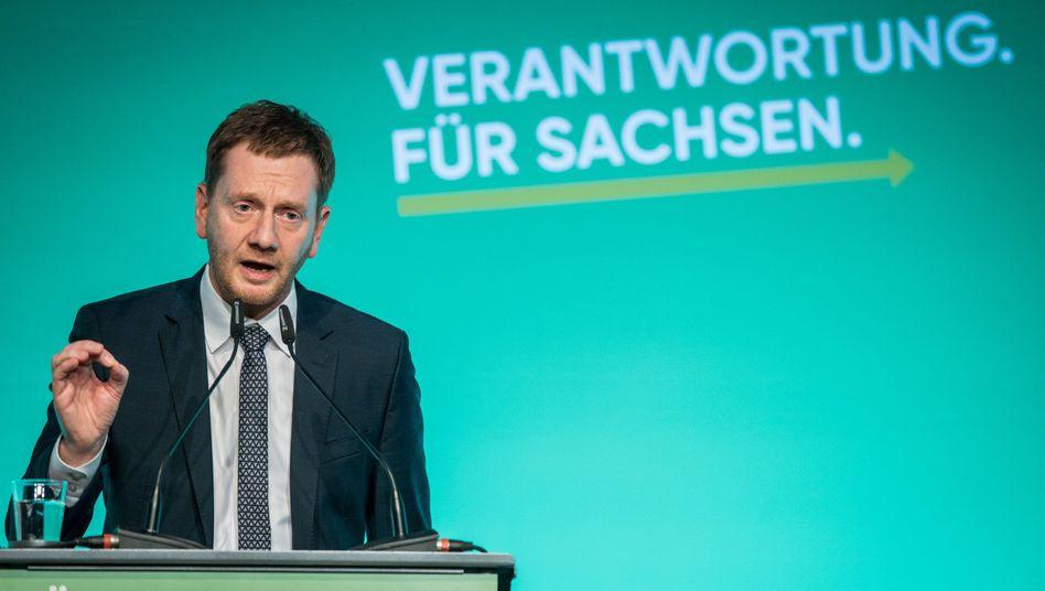 """Sachsens Ministerpräsident Michael Kretschmer (CDU): Das viele Lob für ihn ist ihm """"peinlich""""."""