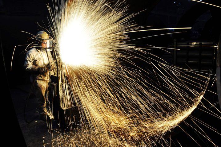Chinesischer Stahlarbeiter