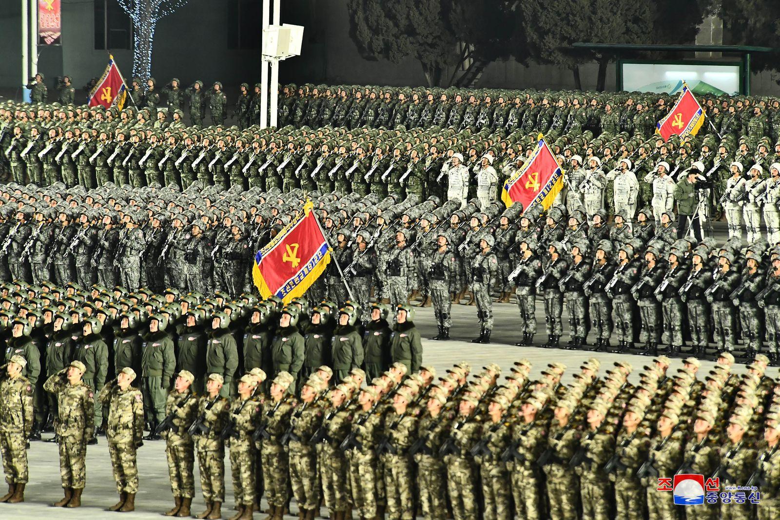 Military parade in Pyongyang, Korea - 14 Jan 2021