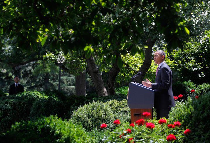 Obama, im Juni 2012