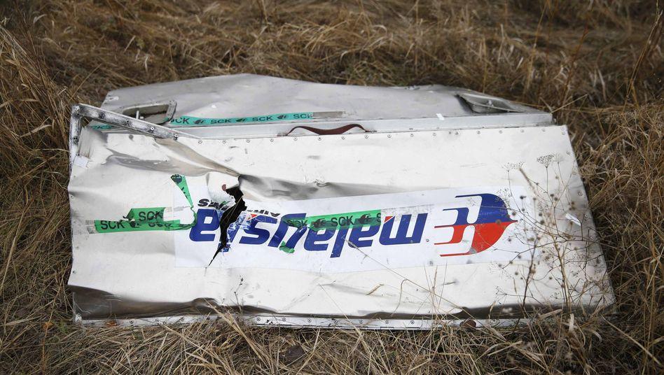 Wrackteil der abgeschossenen Boeing: Klage wegen Totschlags durch Unterlassen