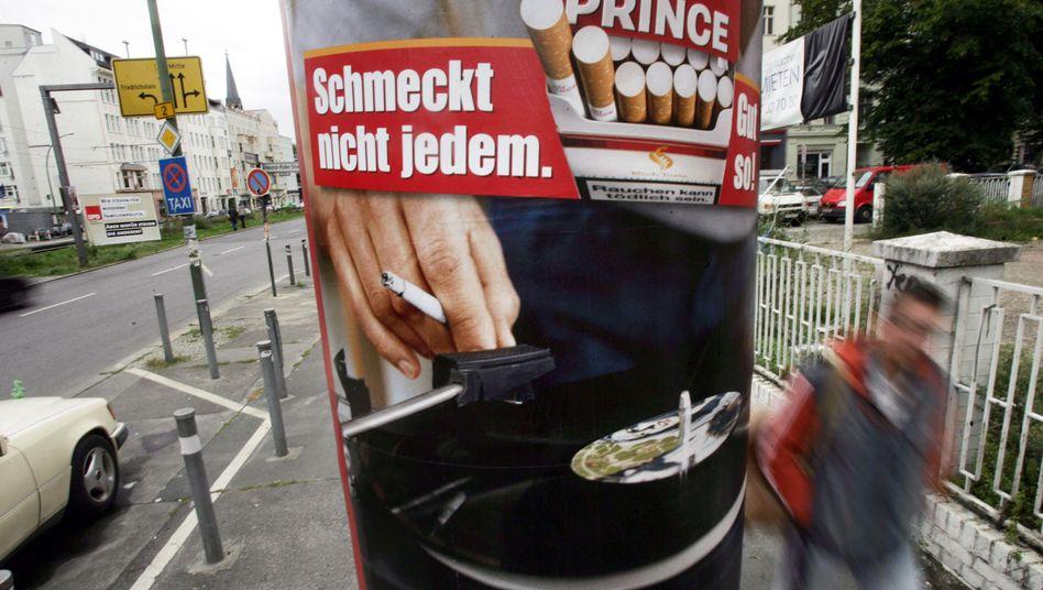 Aus für Tabakwerbung ab 2022