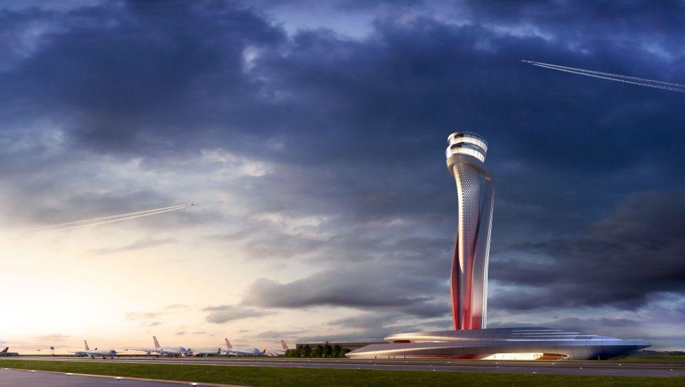 Neuer Istanbuler Flughafen: Eine Tulpe als Kontrollturm