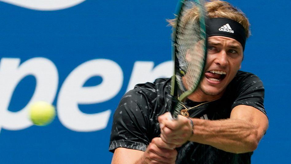 Alexander Zverev gewann sein Auftaktmatch souverän