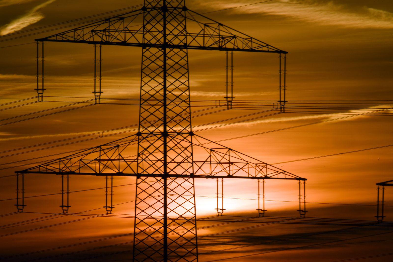 Strommasten in Nordrhein-Westfalen