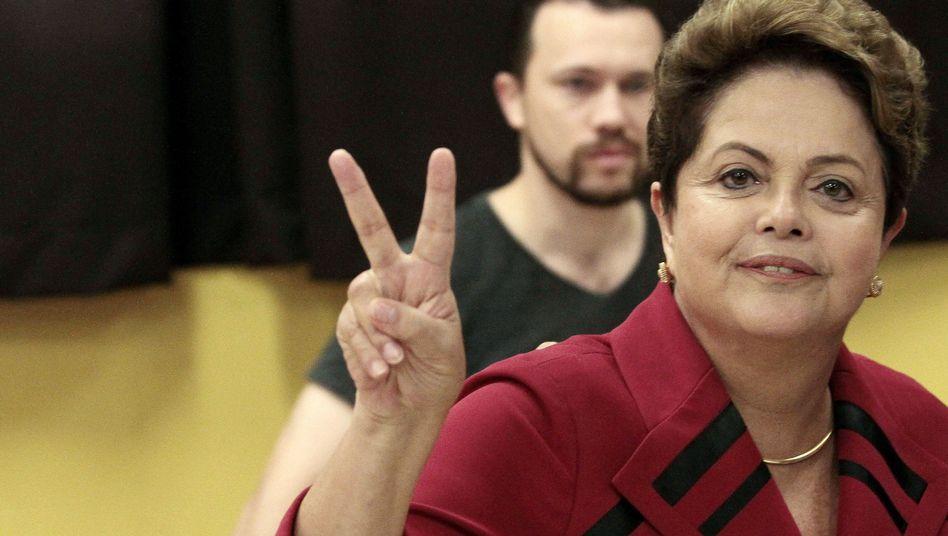 Präsidentenwahl in Brasilien: Rousseff gewinnt erste Wahlrunde