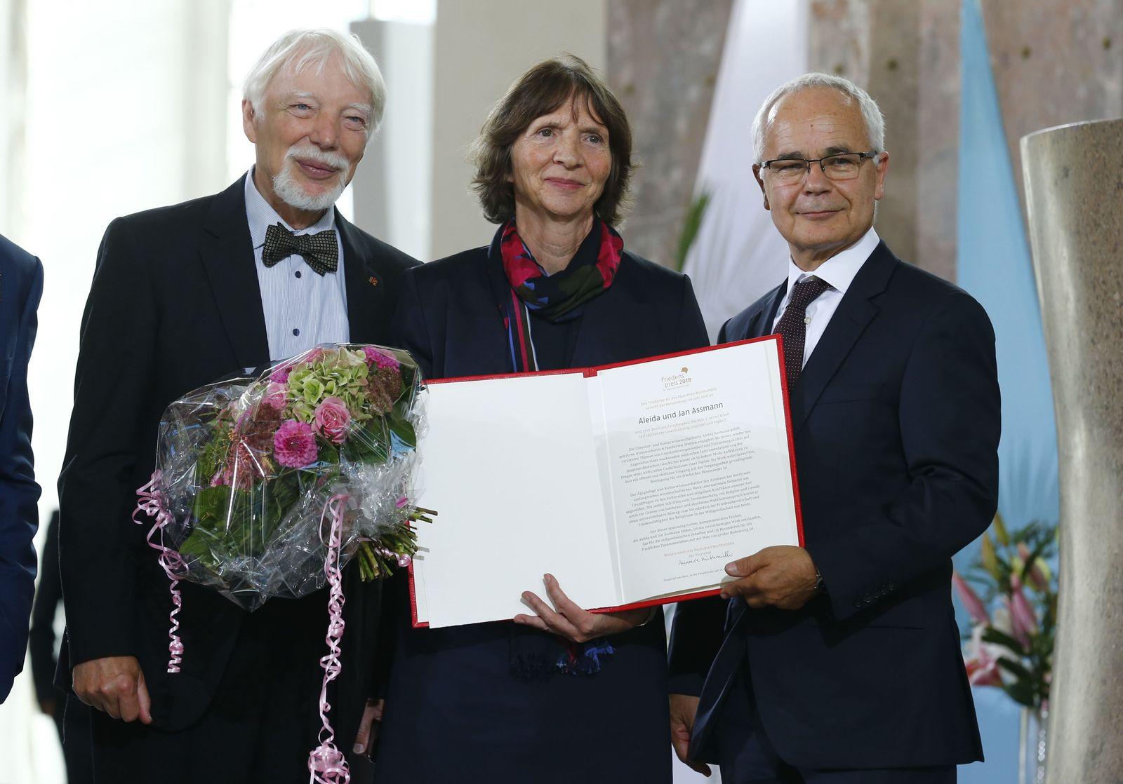 Friedenspreis Deutscher Buchhandel/ Aleida und Jan Assmann