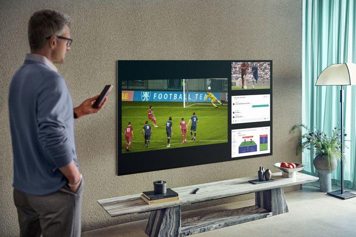 4Vue lädt Samsung ein, vier verschiedene TV-Quellen parallel zum Bildschirm zu schalten und die Größe individuell zu steuern
