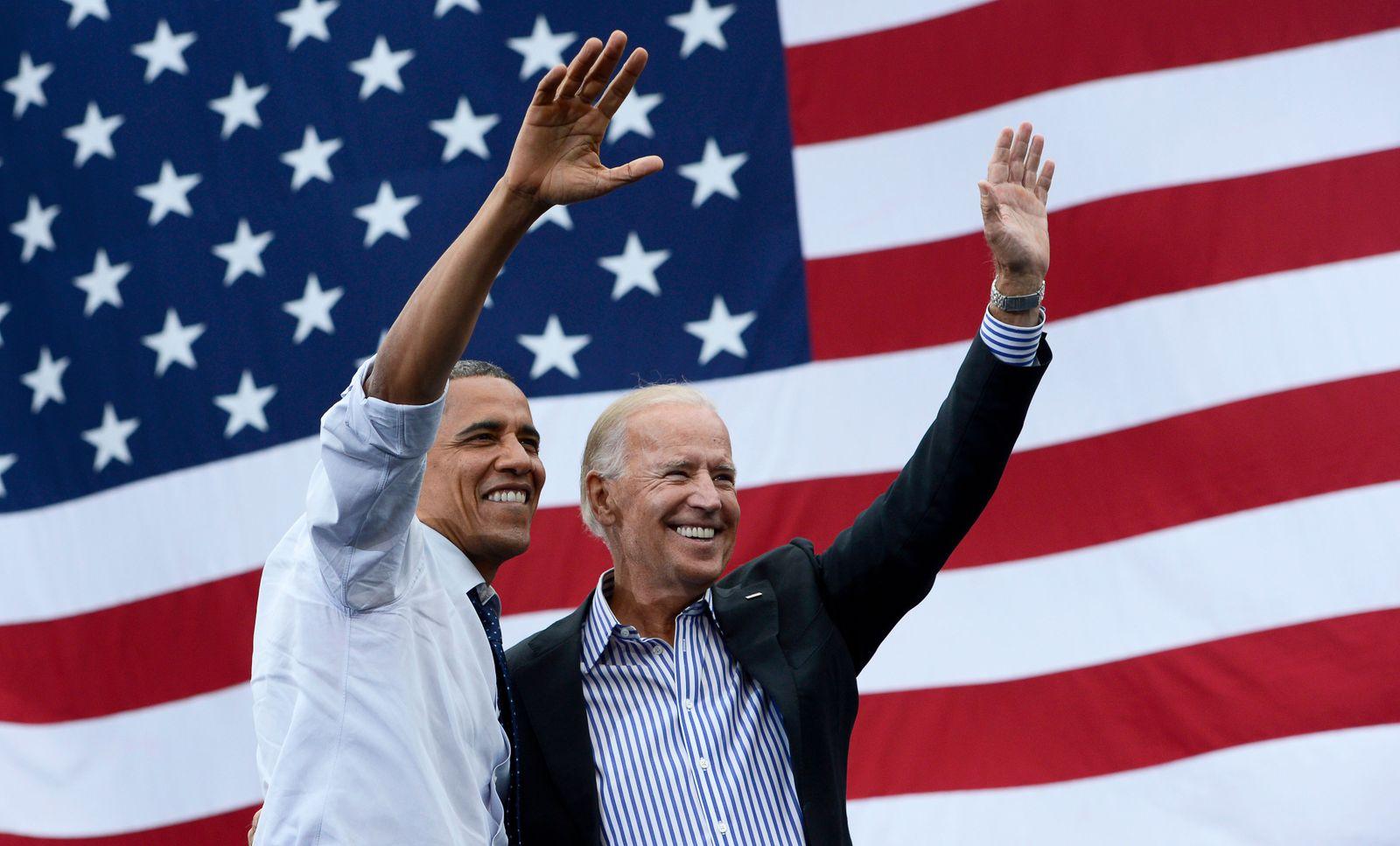 Barack Obama endorses Joe Biden for US presidential elections, Iowa City, USA - 07 Sep 2012