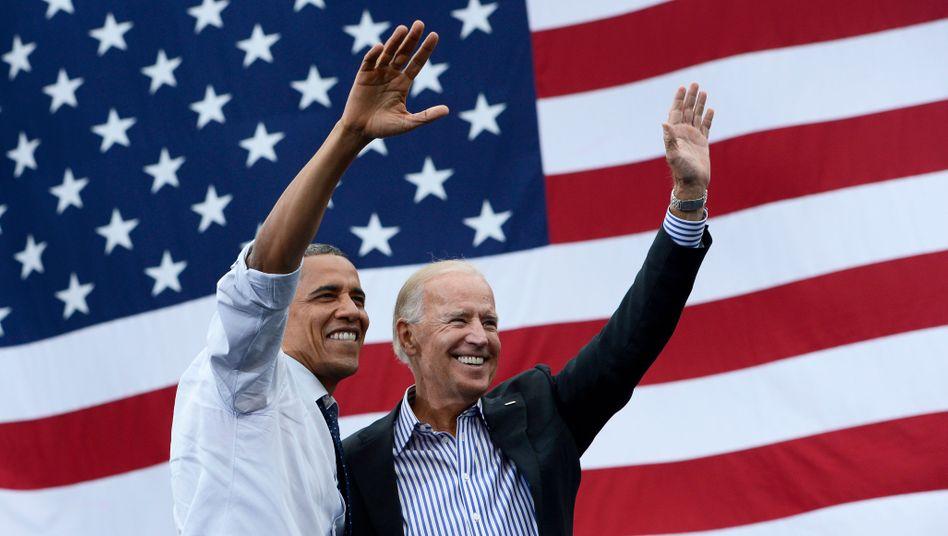 Präsident Obama und sein damaliger Vize Biden