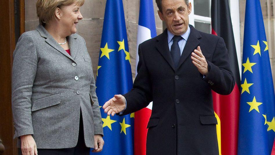 Kanzlerin Merkel, Präsident Sarkozy: Woche der Wahrheit für den Euro