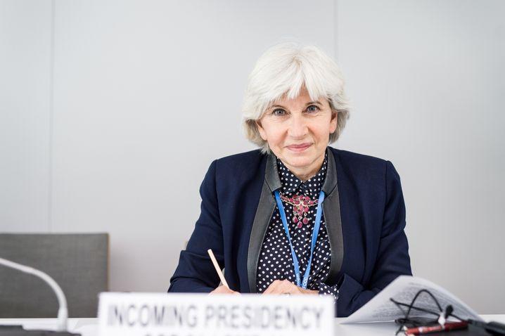 """Laurence Tubiana, französische Sonderbotschafterin für den Klimagipfel: """"Es ist ein kollektiver Lernprozess der ganzen Welt""""."""