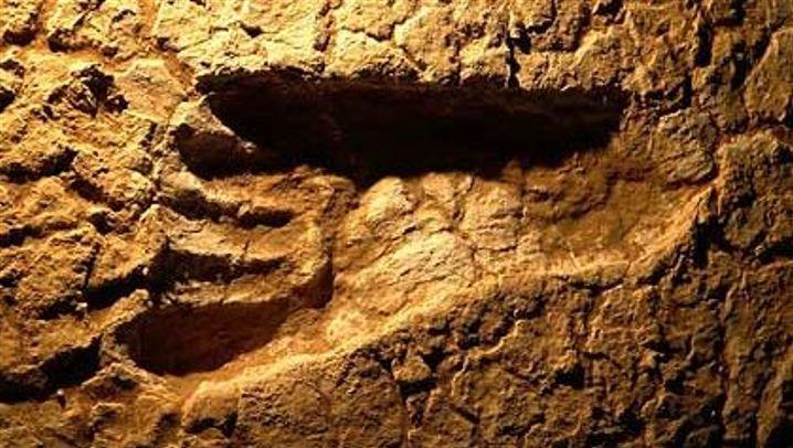 Spuren aus der Vergangenheit: Fußspuren in Australien