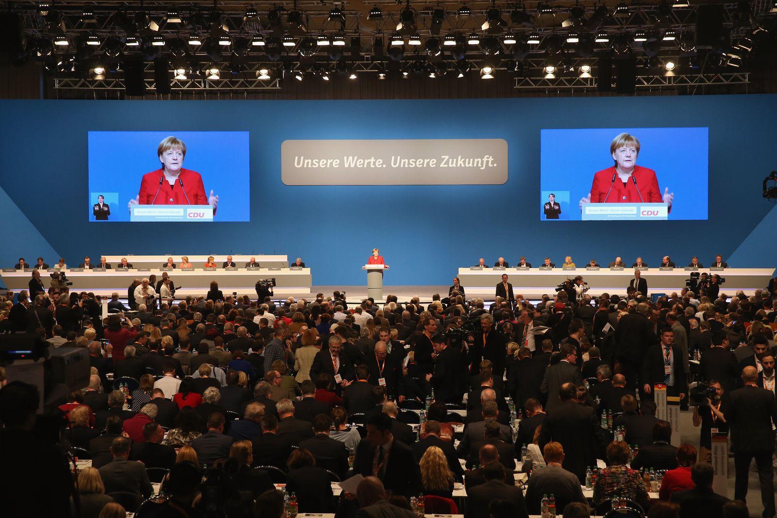 CDU/ Parteitag/ Angela Merkel