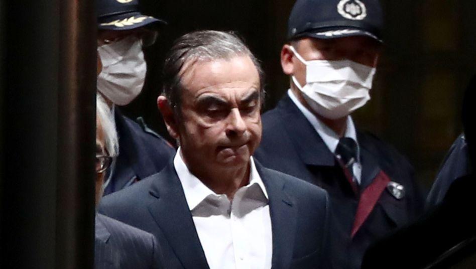 Carlos Ghosn kurz nach seiner Freilassung