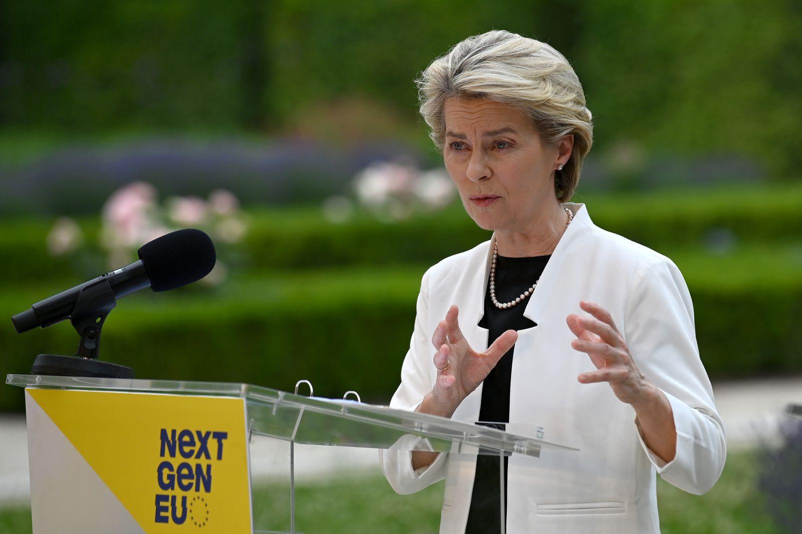 Ursula von der Leyen Visits Austria As Part Of EU Tour