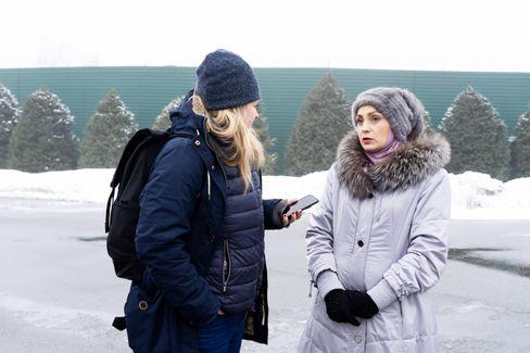SPIEGEL-ONLINE-Korrespondentin Christina Hebel im Gespräch mit Olga Belcharojewa