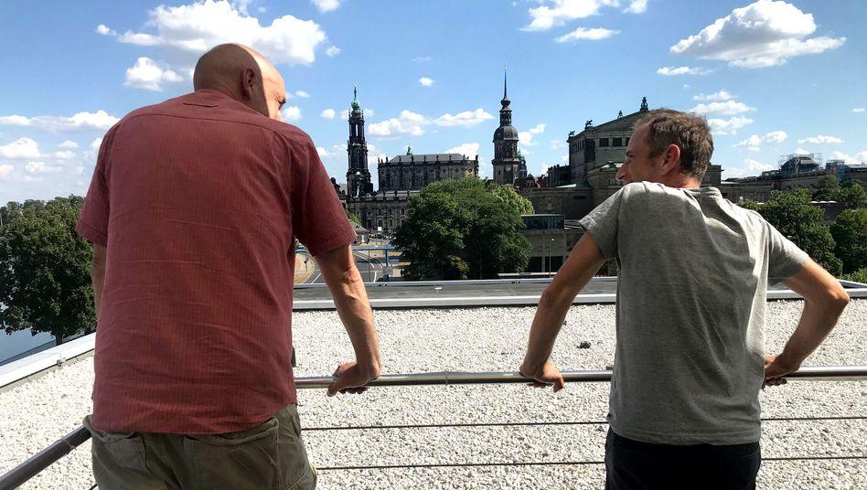 Torsten Küllig (l.) und Axel Steier in Dresden
