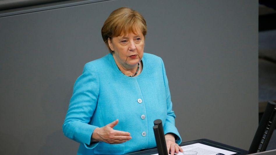 Kanzlerin Angela Merkel bei ihrer vermutlich letzten Regierungserklärung