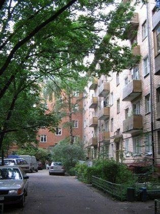 Planetnaya-Straße in Moskau: In der ruhigen Wohngegend will keiner den Firmensitz von allofmp3 kennen