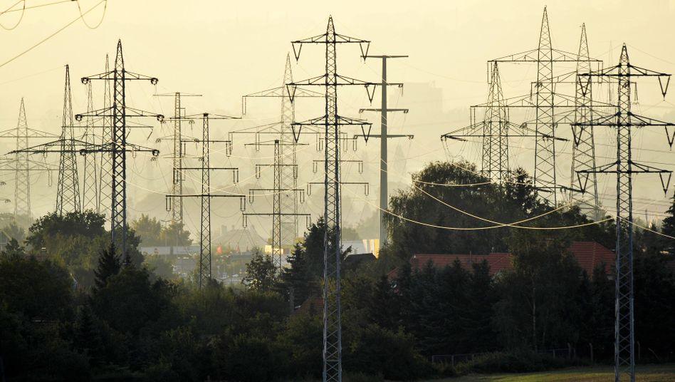 Hochspannungsmasten in Sachsen