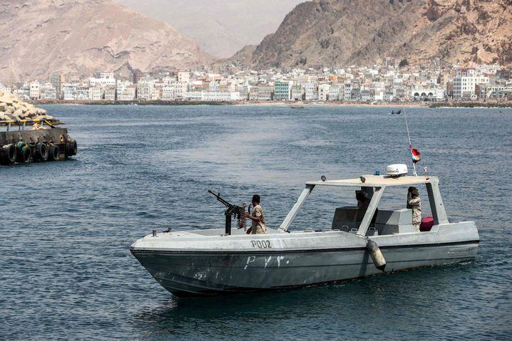 Marine-Einheiten der VAE vor der Küsten Jemens