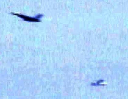 Abfangmanöver: Eine F-16 und die Cessna über Washington