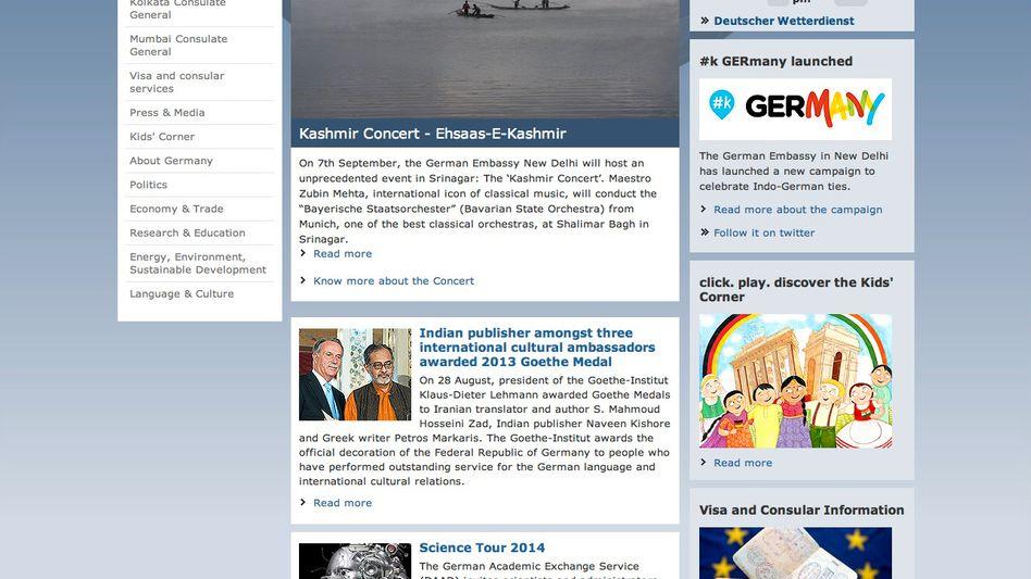 """Website der deutschen Botschaft in Neu-Delhi: """"Das Kaschmirkonzert"""""""