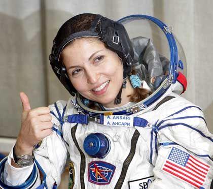 Weltraumtouristin Anoushen Ansari: Genießt die unverbaubare Fernsicht im Orbit