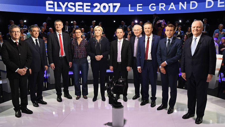 TV-Debatte in Frankreich: Elf Kandidaten, vier Stunden, ein Sieger