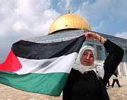 Palästinenserin vor dem Felsendom