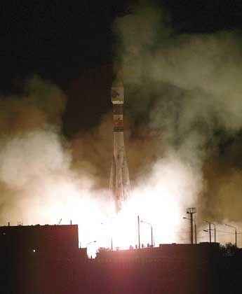 Erfolgreicher Start: Zwei Stunden nach dem Abheben funkte der Mars-Express bereits erste Signale zur Erde