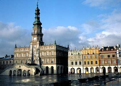 Zamosc: Die Altstadt steht auf der Weltkulturerbe-Liste der Unesco