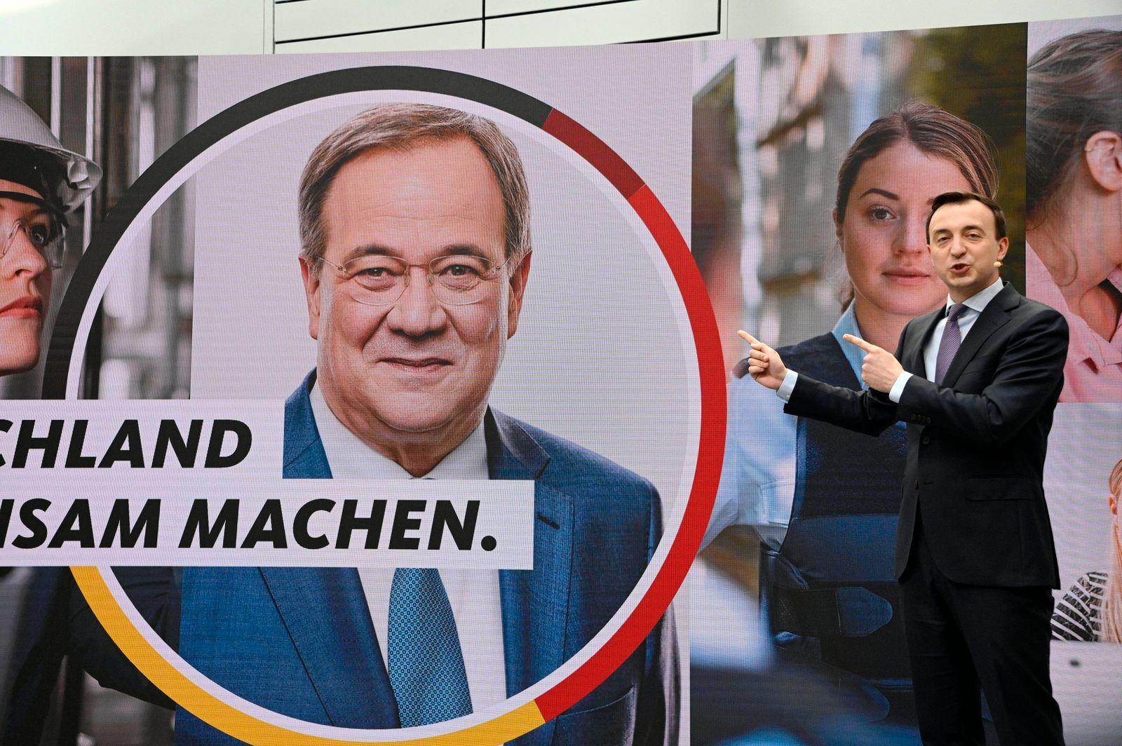 Paul Ziemiak bei der Vorstellung der Bundestagswahlkampfkampagne der CDU im Konrad-Adenauer-Haus. Berlin, 06.07.2021 ***