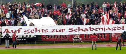 Dubioser Aufruf: Schon 2006 freuten sich die HFC-Fans auf das Auswärtsspiel bei Erzfeind Sachsen Leipzig